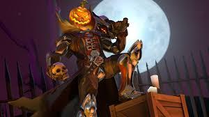 halloween background videos reaper pumpkin skull halloween overw wallpaper 11035