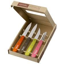 Coloured Kitchen Knives Set Opinel Kitchen Essentials 4 Piece Small Kitchen Knife Set 50 U0027s