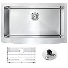 Stainless Kitchen Sink by Anzzi Elysian Series Farmhouse Stainless Steel 32 In 0 Hole