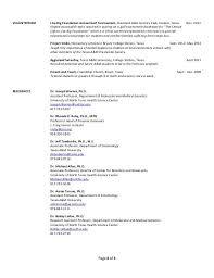 Resume For Associate Professor Entomology Scientist Resume Cv Sample For An Ecologist