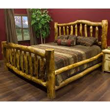 Wood Log Bed Frame Unique Bed Frames Ideas For Master Bedroom Univind