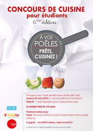 concours cuisine concours de cuisine pour étudiants