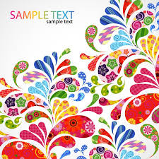 colorful designer colorful floral design vector graphic free vector graphics all