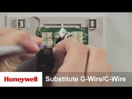 honeywell diy wi fi smart thermostat substitute g wire for c wire