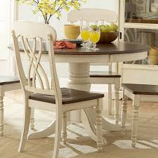 Dining Room Accent Furniture Ohana White Round Dining Table Casual Kitchen Dining Tables