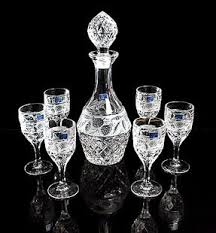 wine sets glass whiskey wine decanter bottle wine glass in bar