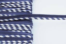 piping cord flanged piping cord 3mm navy and white stripe