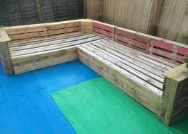 Outdoor Wood Sectional Furniture Plans by Diy Pallet Patio Or Garden Corner Sofa Pallet Patio Pallets And