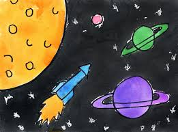 outer space art project for kids ziggity zoom age