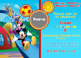 Mickey Mouse Invitation Card Tips Easy To Create Mickey Mouse Clubhouse Birthday Invitations