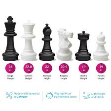 amazon com kettler giant chess pieces complete set with 25 inches