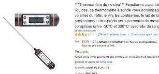 prix thermometre cuisine un thermomètre de cuisine à écran lcd à moins de 2 euros