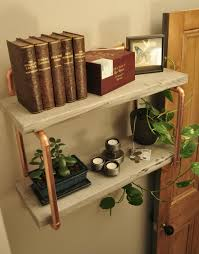 copper projects copper pipe reclaimed wood shelving with coat hooks