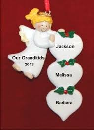 Grandparent Ornaments Personalized From 7 Grandkids To Grandparents Personalized Christmas Ornament
