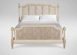 woven cane panels bed