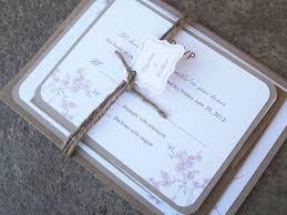 cherry blossom wedding invitations blossom wedding invitation with burlap