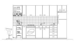 Autocad For Kitchen Design by Cad Drawing Of Kitchen In Elevation Cadblocksfree Cad Blocks Free