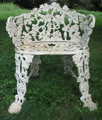 Cast Iron Bistro Chairs Victorian Kramer Bros Cast Iron Garden Bench By Ebay Seller
