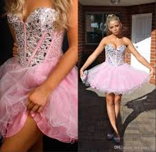 pink 2016 cheap prom homecoming dresses a line sweetheart