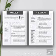 creative resume template modern cv word cover letter do saneme