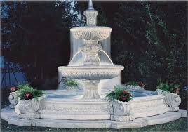 and flower pots with two tier centre vasa ornamental water