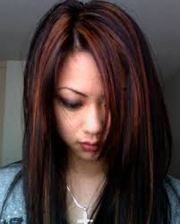 partial red highlights on dark brown hair highlights for dark hair highlights what is the difference