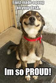 So Proud Meme - i just made a poop on your desk im so proud good dog greg