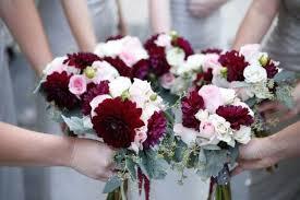 bridal bouquet ideas 16 burgundy and blush wedding bouquet ideas