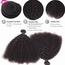 Double Weft Hair Extensions by Curly Virgin Hair 3 Bundles Afro Curly Hair Extensions