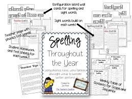 spelling throughout the year 2nd grade edition teacher by the