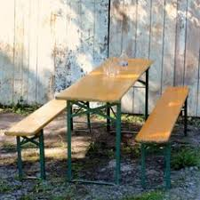 german beer garden table and bench 1950s authentic vintage german beer garden by unearthedgallery