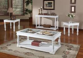 Cottage Sofa Table Alpine 48 Inch Tv Console Sofa Table In Cottage White Finish By