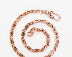 solid copper chain bracelet images Copper anklet etsy jpg