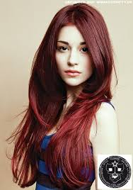 Frisuren Lange Haare Rot by Fedrig Gestufte Längen In Sattem Rot Frauen Frisuren Bilder