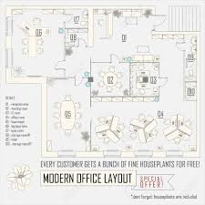 floor plan for office layout modern office interior vector layout with furniture royalty free