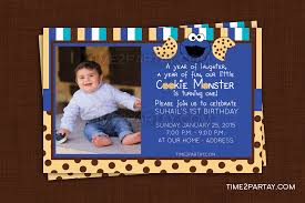 cookie monster baby shower cookie monster birthday party invitations cloveranddot com