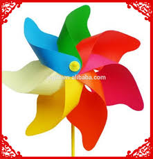 flower garden decoration plastic windmill toy china product kids