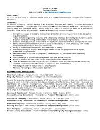 Maintenance Objective Resume Leasing Consultant Duties Resume Free Resume Example And Writing