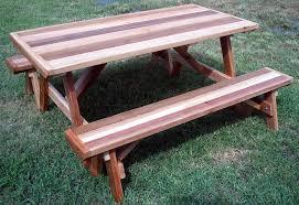 Picnic Table Bench Combo Plan Cedar Picnic Table Bench U2014 Home Ideas Collection Red Cedar