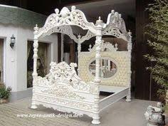 schlafzimmer barock barock bett antik louis xv weiß gothicbett königsbett barockbett