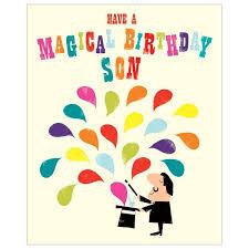 magical birthday son birthday card inkpress range aa2166