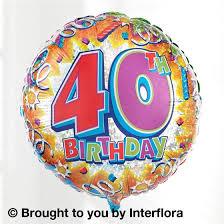 large birthday balloons 40th birthday balloon barnabys florist stevenage