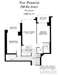 Massey Hall Floor Plan by The Penrose 750 Bay St Remax Condos Plus