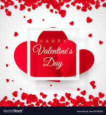 big valentines day valentines day postcard two big hearts in white vector image