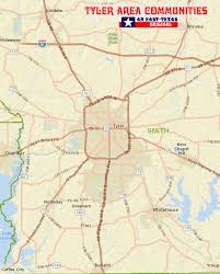 map tx maps of and smith county area towns east