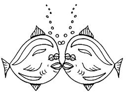 kissing fish bubbles coloring pages kissing fish