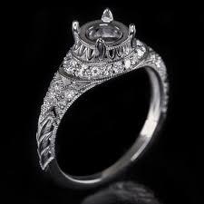 vintage 6 5mm round 1 carat semi mount art deco diamond engagement