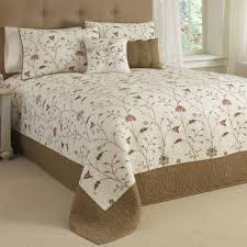 Grey Quilted Bedspread Bed U0026 Bedding Quilted Bedspreads Amherest Floral Brown For