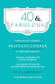 40th birthday invitations with photo gallery invitation design ideas