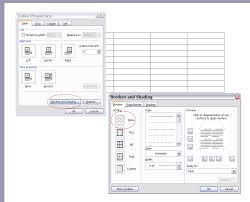 how to create a table with blank borders in word 2003 super user
